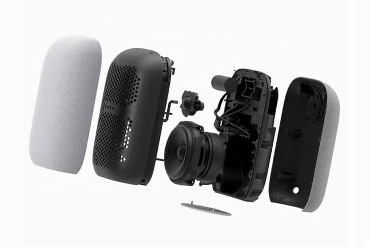 Google Nest Audio verfügt über einen 75 mm Mitteltieftöner sowie einen 19 mm Hochtöner