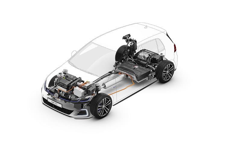 Der Golf GTE beschleunigt ähnlich gut wie der Golf GTI - in 7,6 s von 0 auf 100 km/h