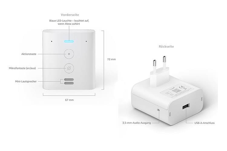 Amazon Echo Flex ist ein Echo Lautsprecher mit USB-A Anschluss in einem Steckdosengehäuse