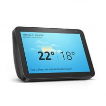 Smart Display mit 8 Zoll großem HD-Bildschirm, Alexa, adaptiver Farbanpassung und einer 1-Megapixel-Kamera. Inkl. Stereolautsprecher.