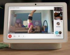 Google Nest Hub Max bietet Video-Gruppen-Chats, in denen sich Familien oder Freunde zusammenfinden können